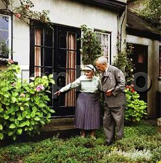 Who would think this sweet old couple are one of the most known British writers and his wife? or even better, Beren & Luthien? :)  John Ronald Ruel Tolkien ; Photographed in his garden with his wife Edith at 76 Sandfield Road , Oxford ; 1966 ; English writer , poet and university professor ; Credit : Pamela Chandler / ArenaPAL www.arenapal.com