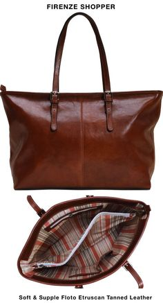 Women's Firenze Full Grain Leather Shopper Tote Bag – Floto