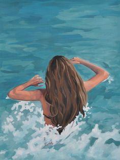 Going Deeper By Julia Blackshaw Original Paintings, Original Art, Blood Art, Swimming Holes, Canvas Paper, Bathing Beauties, Online Art, Abstract Art, Around The Worlds