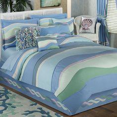 Waves Lightweight Coastal Comforter Set