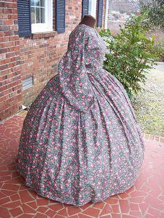 plus size cotton civil war day dress