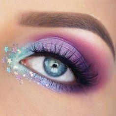Unicorn inspired eye makeup