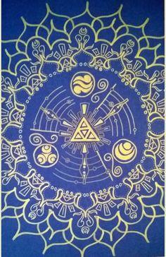 Legend of Zelda Mandala Print  11 x 17 by MandaloveDesigns on Etsy, $24.99