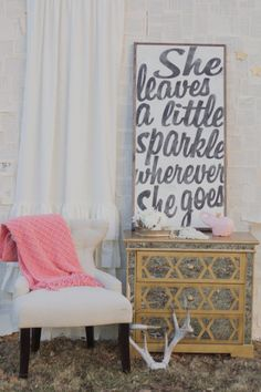 She Leaves a Little Sparkle Sign by TheHouseofBelonging on Etsy