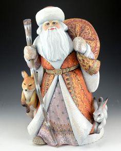 Good King Wenceslas Russian Santa with fox and Rabbit