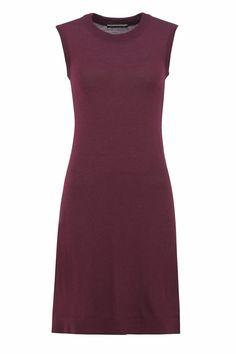 Classic T dress - wald (kjole) Long Sleeve Short Dress, Short Sleeves, High Neck Dress, Long Jackets, Knit Dress, Classic, Fitness, Shirts, Black