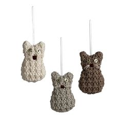 I feel fairly certain I'm going to have to make these for my cat-loving friends.  Adorable!