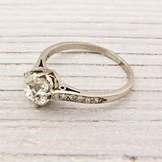 1940s Engagement Ring - Vintage Gold and Diamond Ring