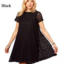 Sexy Women's Summer Lace Short Sleeve Cocktail Evening Party Mini Dress Navy M #dresses #fashion #style #women #trend