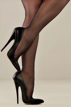 Adorable High Heel Shoes Ideas For Beautiful Women 10 - Hot Stilettos - Heels High Heel Boots, High Heel Pumps, Pumps Heels, Heeled Boots, Stiletto Heels, Sexy Heels, Shoes Sandals, Stilettos, Stockings Heels