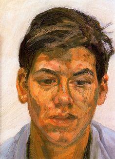 Bella, oil, 16 x 22.3cm, Lucian Freud 1986 (149)