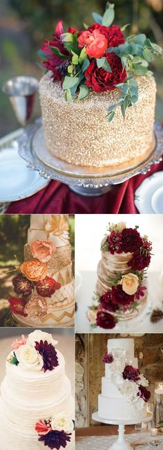 marsala fall wedding cake ideas wedding colors september / fall color wedding ideas / color schemes wedding summer / wedding in september / wedding fall colors Amazing Wedding Cakes, Fall Wedding Cakes, Amazing Cakes, Pretty Wedding Cakes, Rustic Wedding, Our Wedding, Dream Wedding, Wedding Ideas, Perfect Wedding