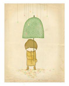 Rain Drops print by arian on Etsy, $15.00