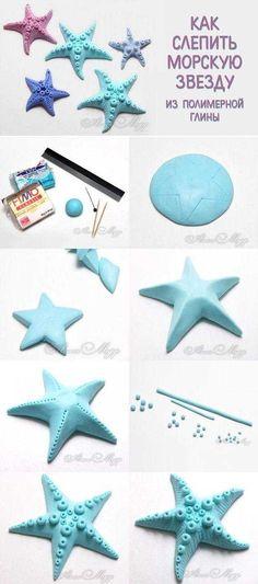 Fimo hamurundan deniz yıldızı figürü yapmak çok basit bir işlem gerektiriyor. Yapacağınız deniz yıld