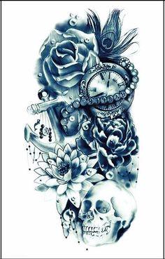 Rose Pirate Temporary Tattoo