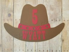 Cowboy Hat Cake Topper Cowgirl Hat Cake Topper