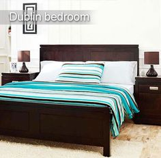 #Dublin Bedroom #Furniture Rich, trendy and upmarket bedroom furniture from the house of Inliving. To buy click the following link - http://www.inliving.com/wooden-furniture/bedroom/dublin