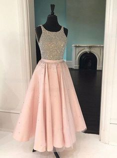 chic pink party dres