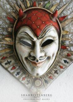 Купить Джокер - маска, карнавальная маска, интерьерная маска, джокер, меркурий, шахристенберг, шахристенберг маски