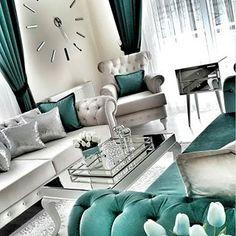 35 Modern And Luxury Living Rooms Design Ideas - Noor . - - 35 Modern And Luxury Living Rooms Design Ideas - Noor . Luxury Living Room, Room Design, Luxury Living Room Design, Living Room Decor Apartment, Teal Living Rooms, Luxury Living, House Interior, Apartment Decor, Living Decor