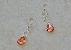 Sterling Eternity Ring Crystal Earrings
