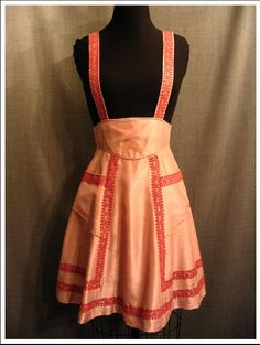 1930s skirt with suspenders.