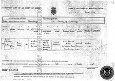 1946 Syd's Birth Certificate