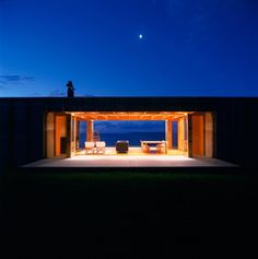 Open interior detail of Coromandel Bach in New Zealand by Crosson Clarke Carnachan Architects