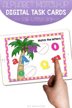 Whether you're in school or teaching remotely, these colorful alphabet match-up coconut digital task cards are perfect for beginner learners. The cards are bright and engaging with self-checking audio and visual clues, making them perfect for independent practice and the familiar coconut tree is something that all our young learners love in the first weeks of school!