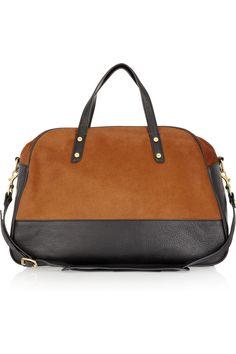J.Crew|Conran calf hair and leather bowling bag |NET-A-PORTER.COM