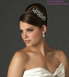 Amazon.com: Bride Bridesmaid Elegant Side Rhinestone Hair Comb by DesignSK: Clothing