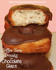 These Coffee Time Donuts with Chocolate Glaze are so light and airy, the perfect yeast doughnut! It's winter. It at least that's what the calendar says. We've had temperatures in the 70's the past few days. In January. Here in Georgia, we don't get icy cold that often. It snows maybe once every 5 years....