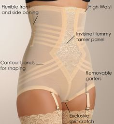 Best panty to wear under your fav spring dress Rago High Waist Brief Girdle $35.10 #Shapewear #theperkylift www.theperkylift.com