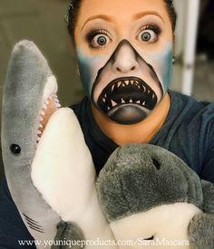 Shark Halloween, Pirate Halloween, Halloween Make Up, Halloween Ideas, Halloween Costumes, Halloween Face Makeup, Fx Makeup, Glam Makeup, Shark Makeup