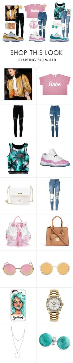 """""""Low 11s"""" by alilbabieenamedmahmah ❤ liked on Polyvore featuring Givenchy, Topshop, Retrò, Michael Kors, Linda Farrow, Casetify, Rolex, Botkier and Bling Jewelry"""