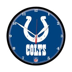 Indianapolis Colts Round Wall Clock