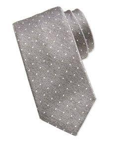 For Charley?  Swiss Dot Tie, Light Gray/White