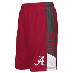 efceb80a27b3 Alabama Crimson Tide Colosseum Youth Strike Shorts - Crimson Charcoal