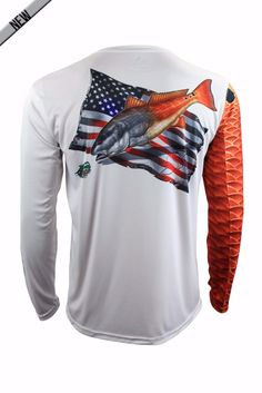Gen 2 redfish performance longsleeve by Salty Scales.