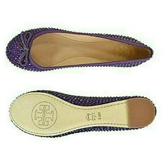 TORY BURCH PURPLE SOHO SUEDE CRYSTAL BALLET FLATS NEW! AUTHENTIC TORY BURCH BOYSENBERRY SOHO LUX SUEDE CRYSTAL CHELSEA BALLET FLATS. The perfect slip-on & go shoe for effortless chic, the Chelsea ballet flat provides the perfect structure & support for added comfort. With the glamorous allover Pavé Crystals, you will always shine from your sole! COLOR: BOYSENBERRY Tory Burch Shoes Flats & Loafers
