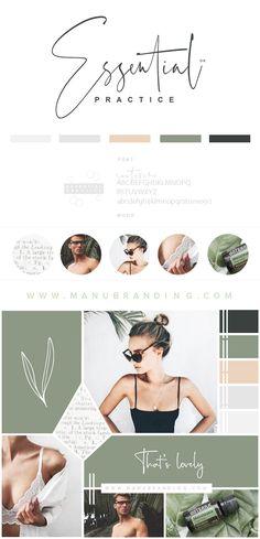 Minimalist and feminine logo design and professionell branding. Love the bold layout and typography. #minimalist #feminine #wedding #logodesign #women #branding #logo Manubranding.com