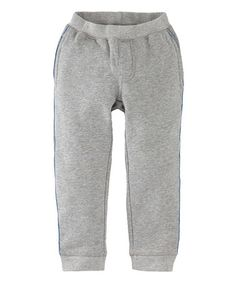 Take a look at this Medium Heather Gray Stripe Sweatpants - Infant, Toddler & Boys on zulily today!