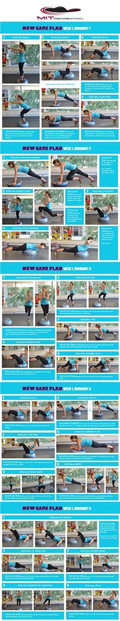 Looking for NEW ways to refresh your workout routine? Follow MIT Recreation's NEW Game Plan Program! Here's Week One...