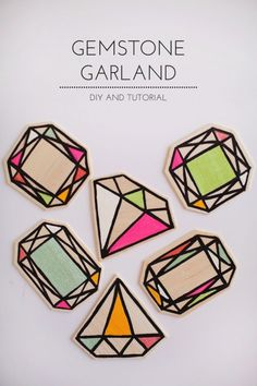 Colorful DIY Wood Gemstone Garland