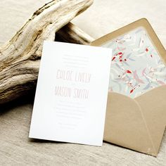 rustic and modern destination wedding invitations