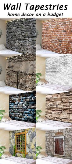 2020 Brick Wall Tapestry Best Online For Sale Wall Decor, Room Decor, Wall Art, Cheap Home Decor, Design Case, Interior Design Living Room, Wall Tapestry, Home Projects, Home Improvement