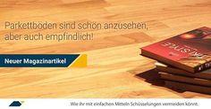 Richtige Pflege bei Parkettböden beugt Schüsselung vor. Mehr dazu im Magazin von www.parkett-direkt.net