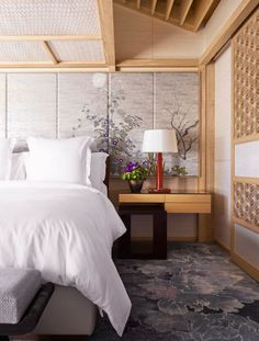 Presidential Suite bedroom of the Four Seasons Kyoto by HBA Design.