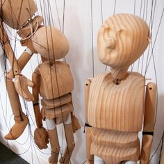 A trio of marionettes in Charleville-Mézières, France.