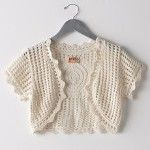 Crochet Cropped Bolero Pattern | Sirdar 4ply LS Bolero style short CARDIGAN Crochet Pattern 8678 Child ...